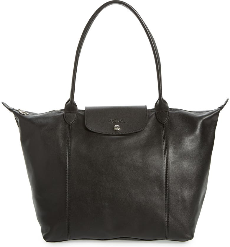 Le Pliage Cuir Leather Tote