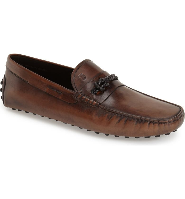 TOD'S 'Morsetto' Driving Loafer, Main, color, COCOA LEATHER