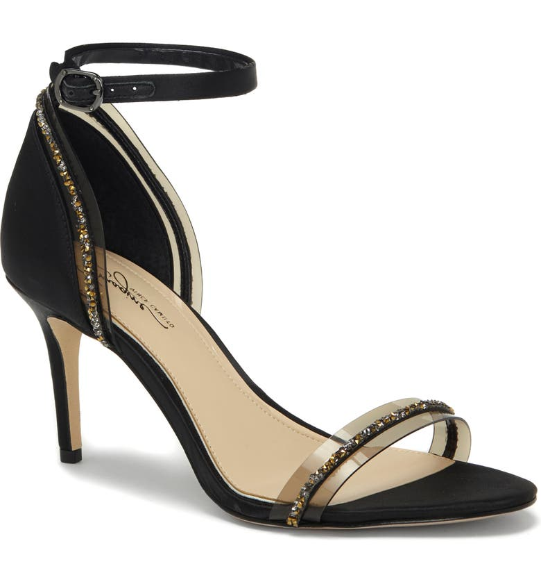 IMAGINE BY VINCE CAMUTO Phillipa Crystal Embellished Clear Sandal, Main, color, 002