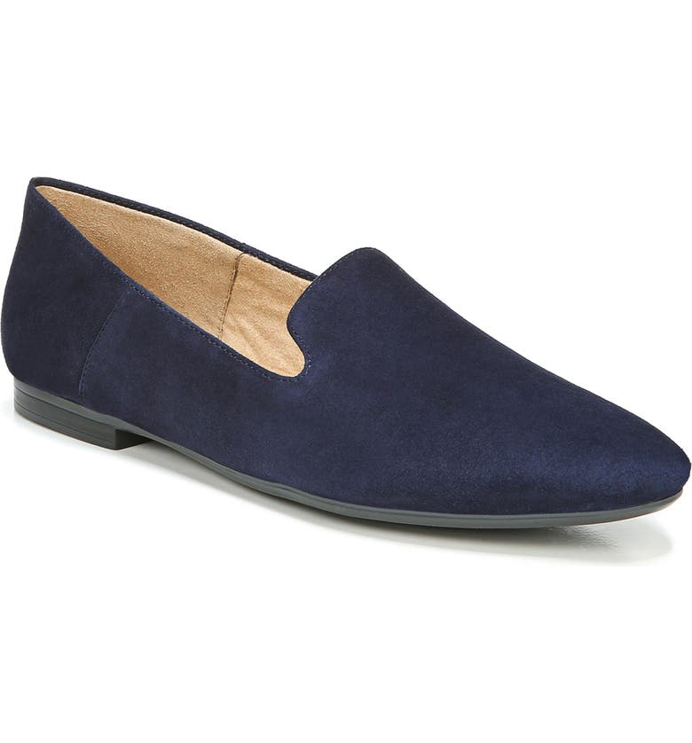 NATURALIZER Lorna Collapsible Heel Loafer, Main, color, FRENCH NAVY LEATHER