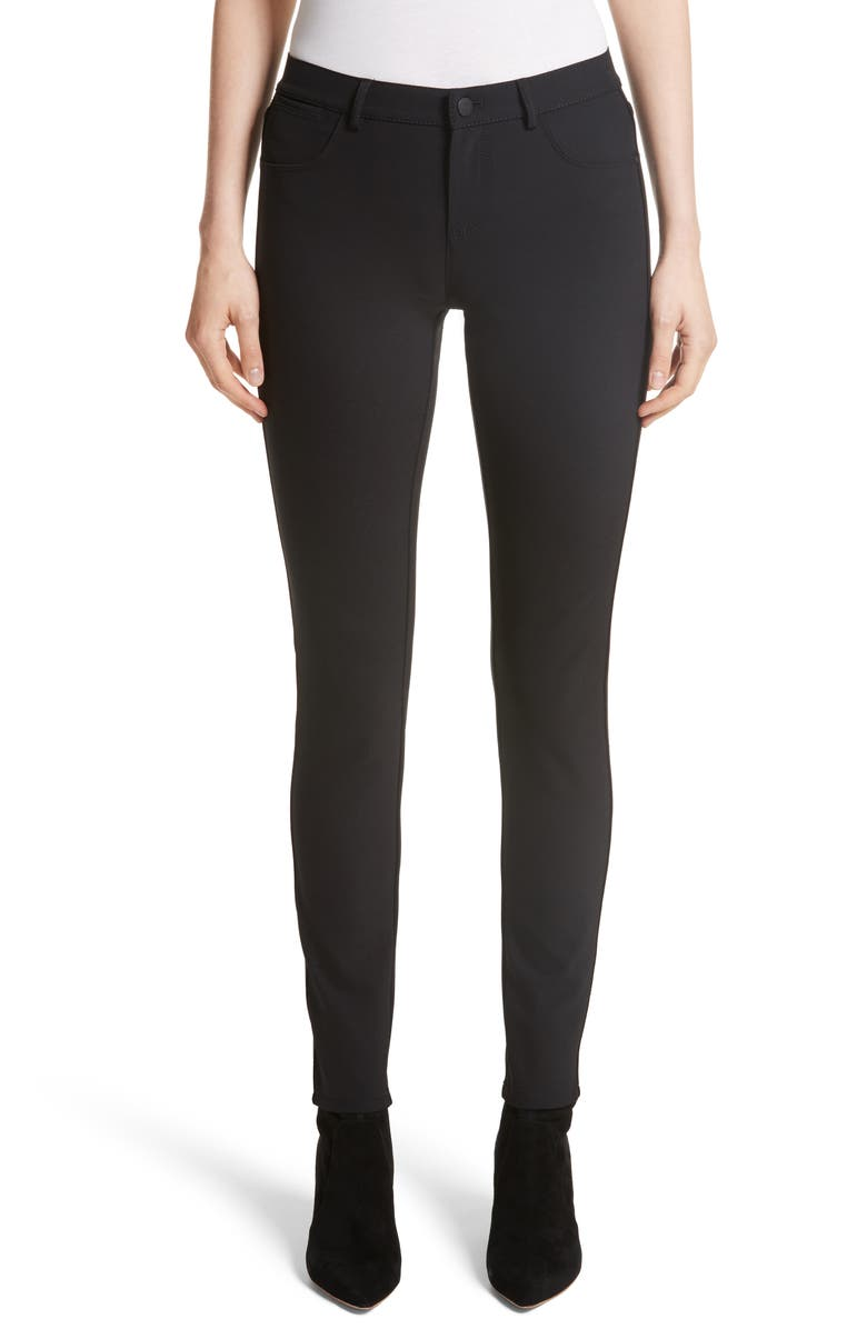 LAFAYETTE 148 NEW YORK Mercer Acclaimed Stretch Skinny Pants, Main, color, BLACK