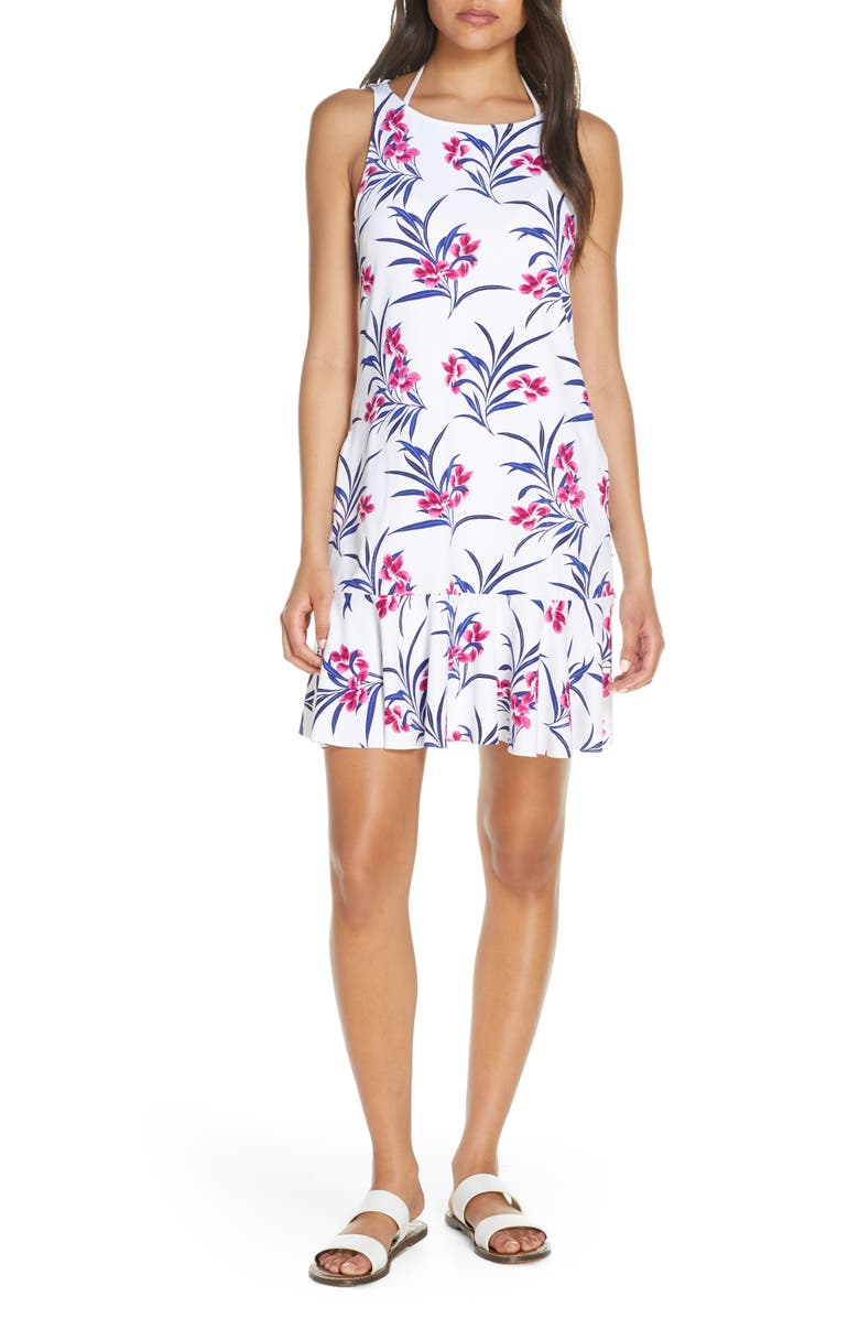 TOMMY BAHAMA Oasis Blossoms Spa Cover-Up Dress, Main, color, 100
