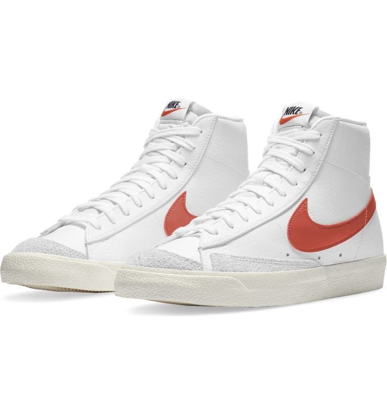 NIKE Blazer Mid '77 Vintage Sneaker, Main, color, WHITE/MANTRA ORANGE-SAIL