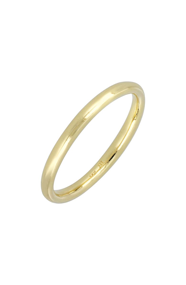 BONY LEVY 14K Gold Wedding Band Ring, 2mm, Main, color, YELLOW GOLD
