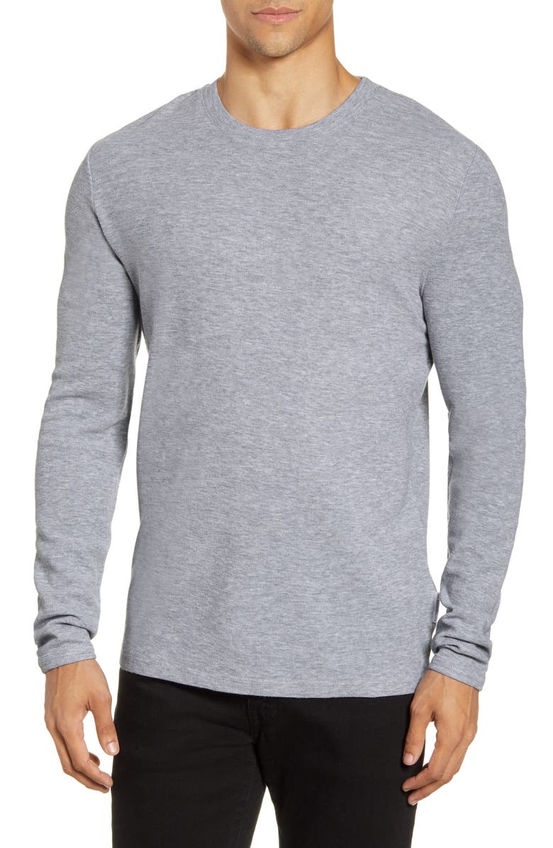 NN07 Clive 3323 Slim Fit Long Sleeve T-Shirt, Main, color, GREY MELANAGE