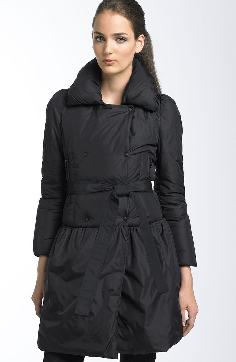 ADD DOWN Belted Down Trench Coat, Main, color,  BLACK