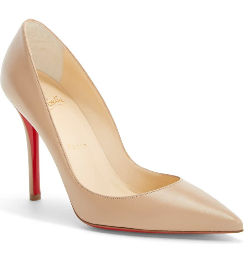 CHRISTIAN LOUBOUTIN 'Apostrophy' Pointy Toe Pump, Main, color, 252