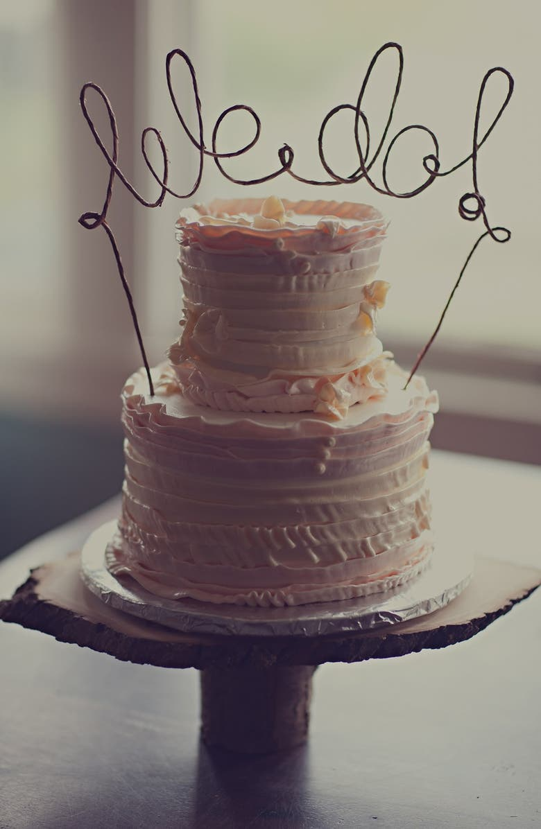 ANTO ARTS 'We Do' Rustic Cake Topper, Main, color, WOOD