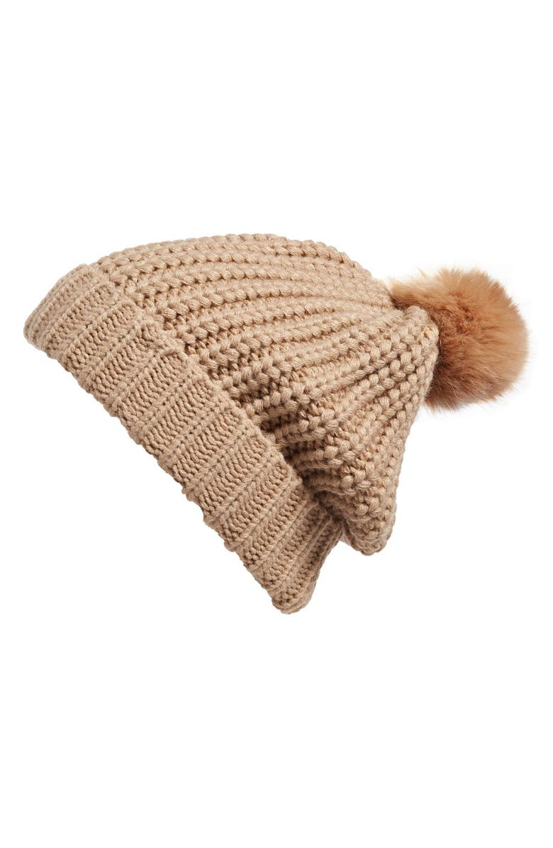 BP. Two Tone Pompom Beanie, Main, color, 250