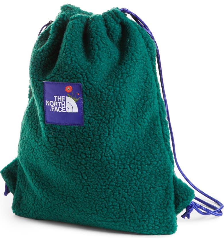 THE NORTH FACE OK Fuzzy Sack Pack Drawstring Bag, Main, color, 301