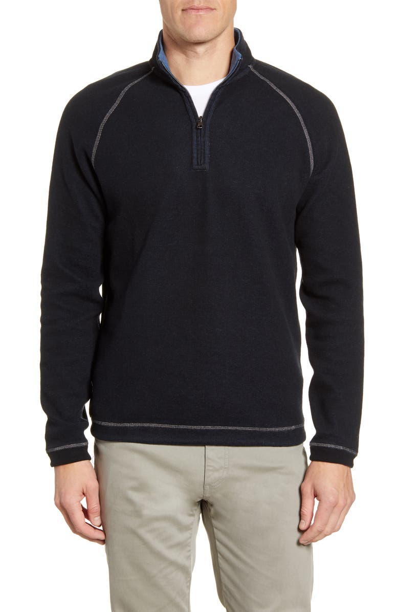 JOHNNIE-O Turner Reversible Quarter Zip Pullover, Main, color, 001