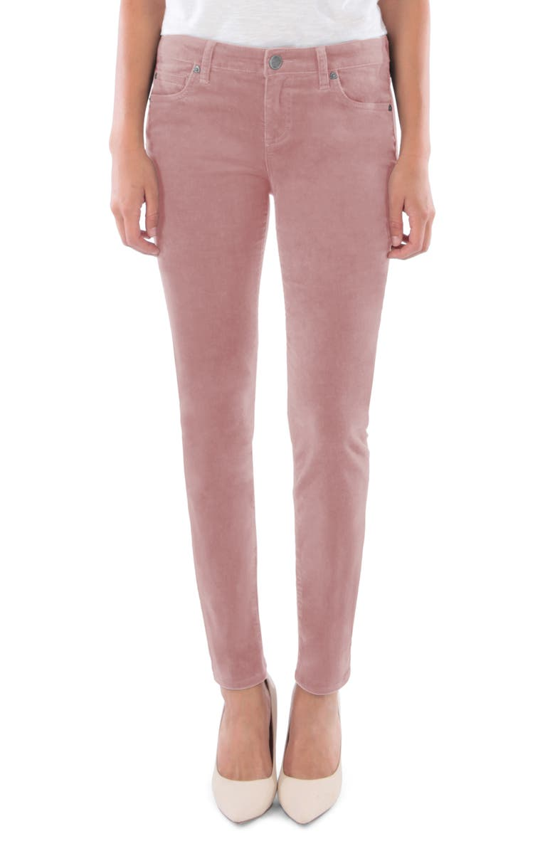 KUT FROM THE KLOTH Diana Stretch Corduroy Skinny Pants, Main, color, ROSE