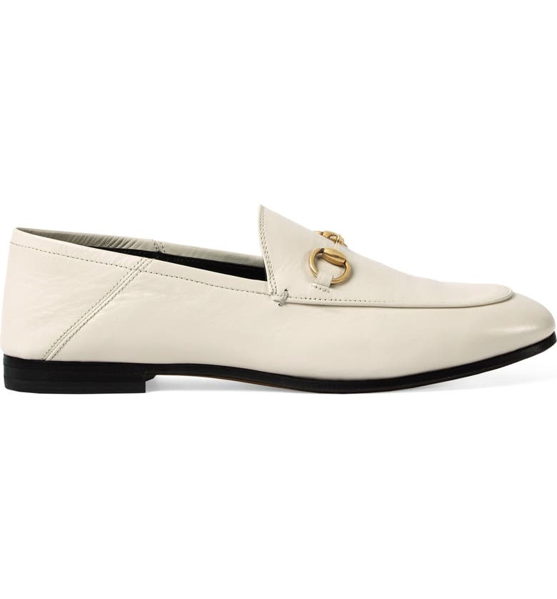 GUCCI Brixton Horsebit Convertible Loafer, Main, color, WHITE LEATHER