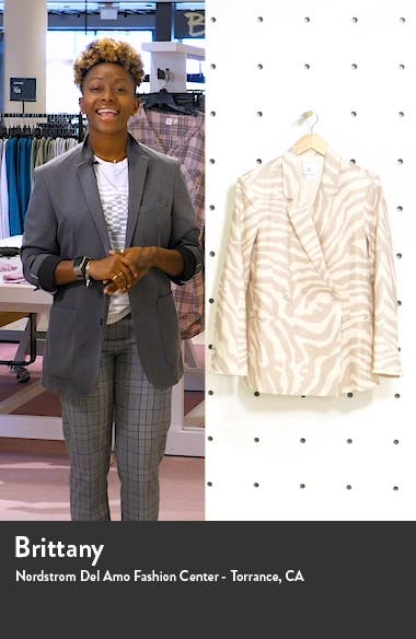 Kaia Zebra Stripe Blazer, sales video thumbnail