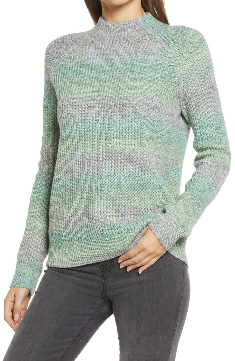 CASLON<SUP>®</SUP> Space Dye Sweater, Main, color, OLIVE SPACEDYE