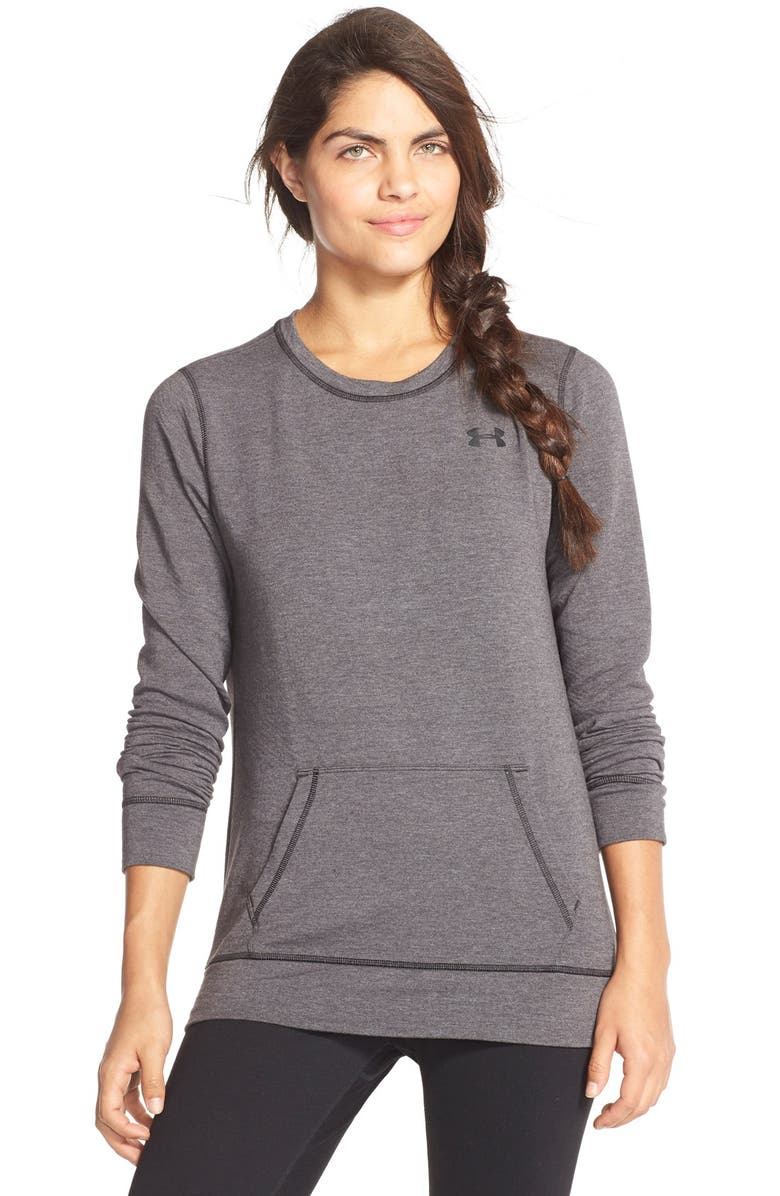 UNDER ARMOUR ColdGear<sup>®</sup> Crewneck Pullover Sweatshirt, Main, color, 002