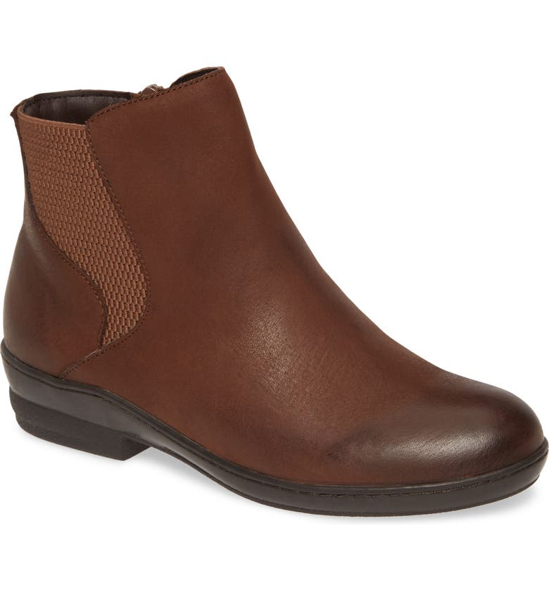 DAVID TATE Torrey Bootie - Multiple Widths Available, Main, color, BROWN NUBUCK LEATHER