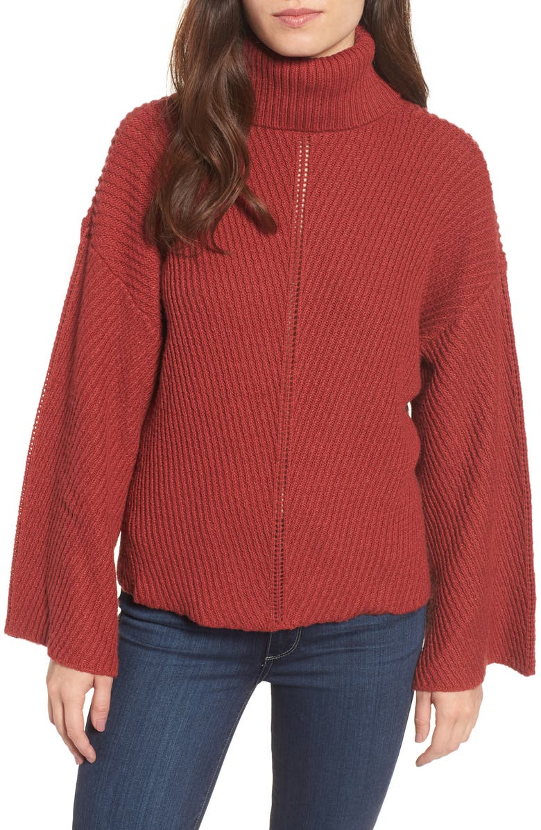 CUPCAKES AND CASHMERE Randy Turtleneck Sweater, Main, color, 205