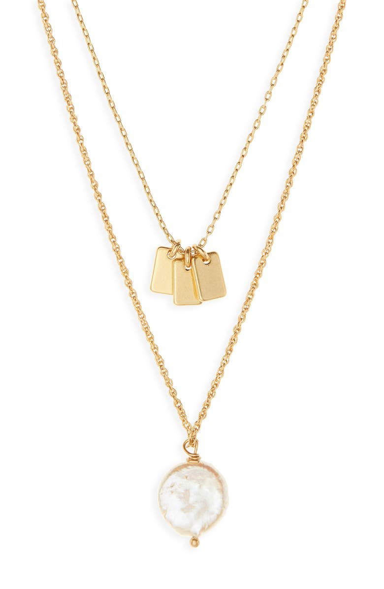 MADEWELL Coin Pearl Pendant Necklace, Main, color, 710