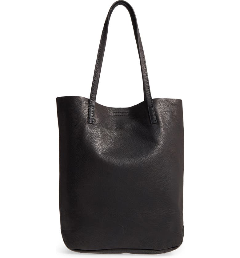 FRYE Naomi Leather Tote, Main, color, 001