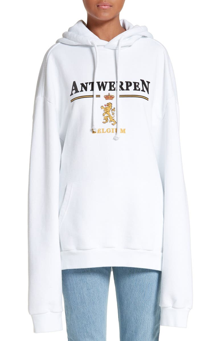 VETEMENTS x SPACE Graphic Hoodie, Main, color, White
