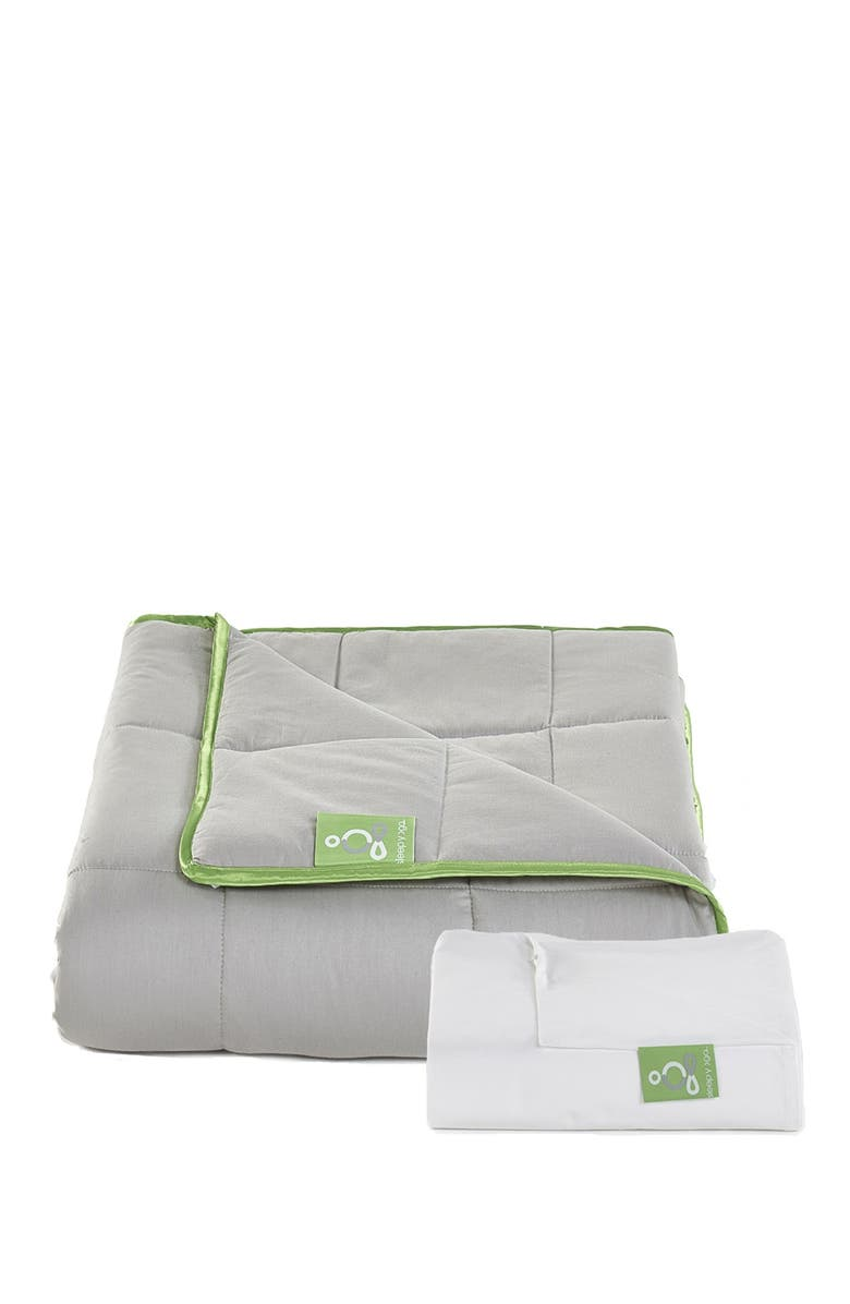 RIO HOME Weighted Blanket with Cotton Cover for Better Sleep - White, Main, color, GRAY