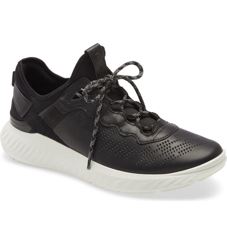 ECCO ST.1 Lite Sneaker, Main, color, BLACK