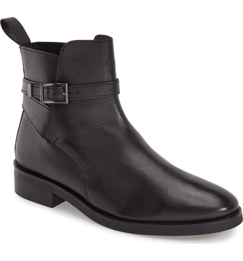 TOPSHOP 'Angelo' Ankle Boot, Main, color, 001