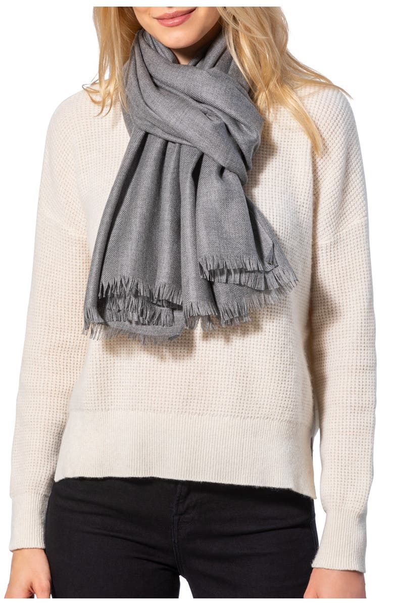 AMICALE Solid Pashmina Scarf, Main, color, 020GRY