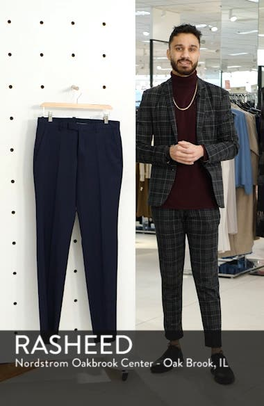 Leenon Flat Front Straight Leg Solid Wool Dress Pants, sales video thumbnail