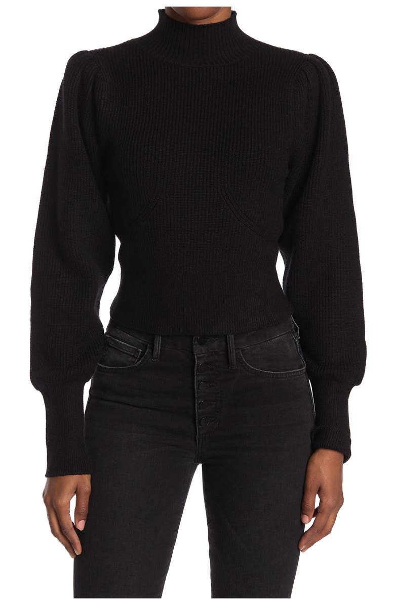 ASTR THE LABEL Puff Sleeve Sweater, Main, color, 001