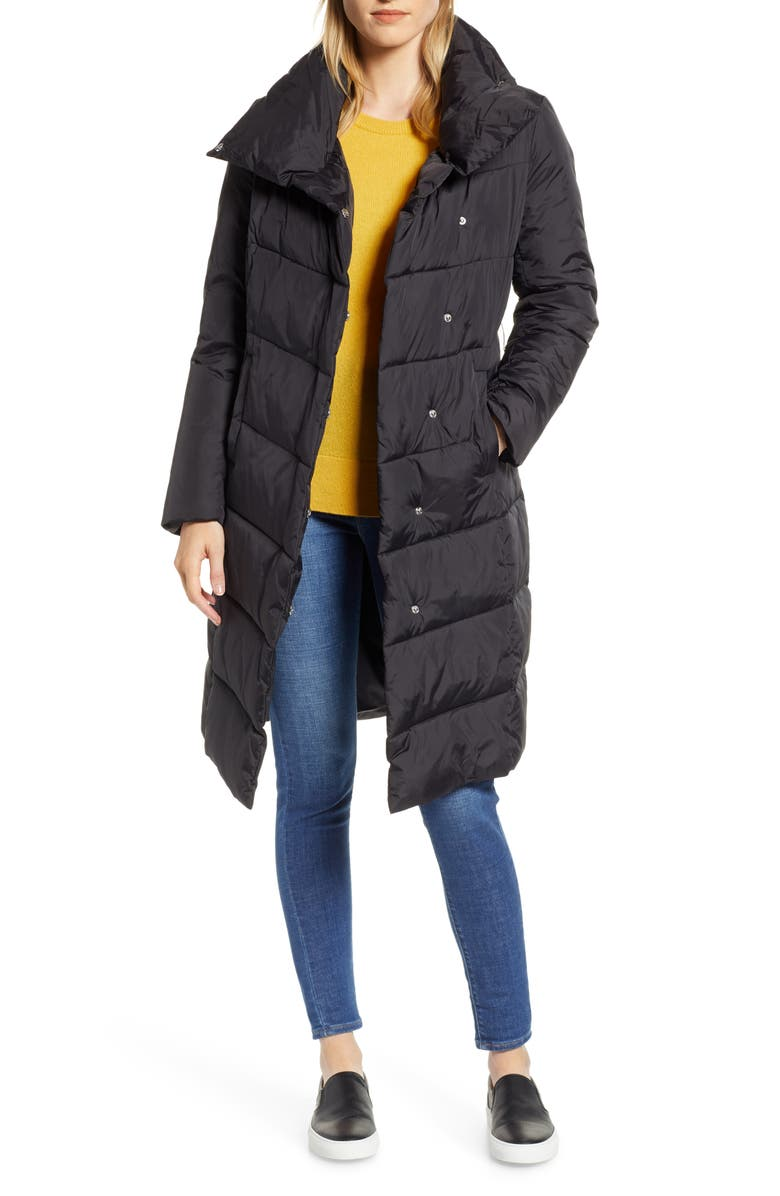 HALOGEN<SUP>®</SUP> Long Puffer Coat, Main, color, 001