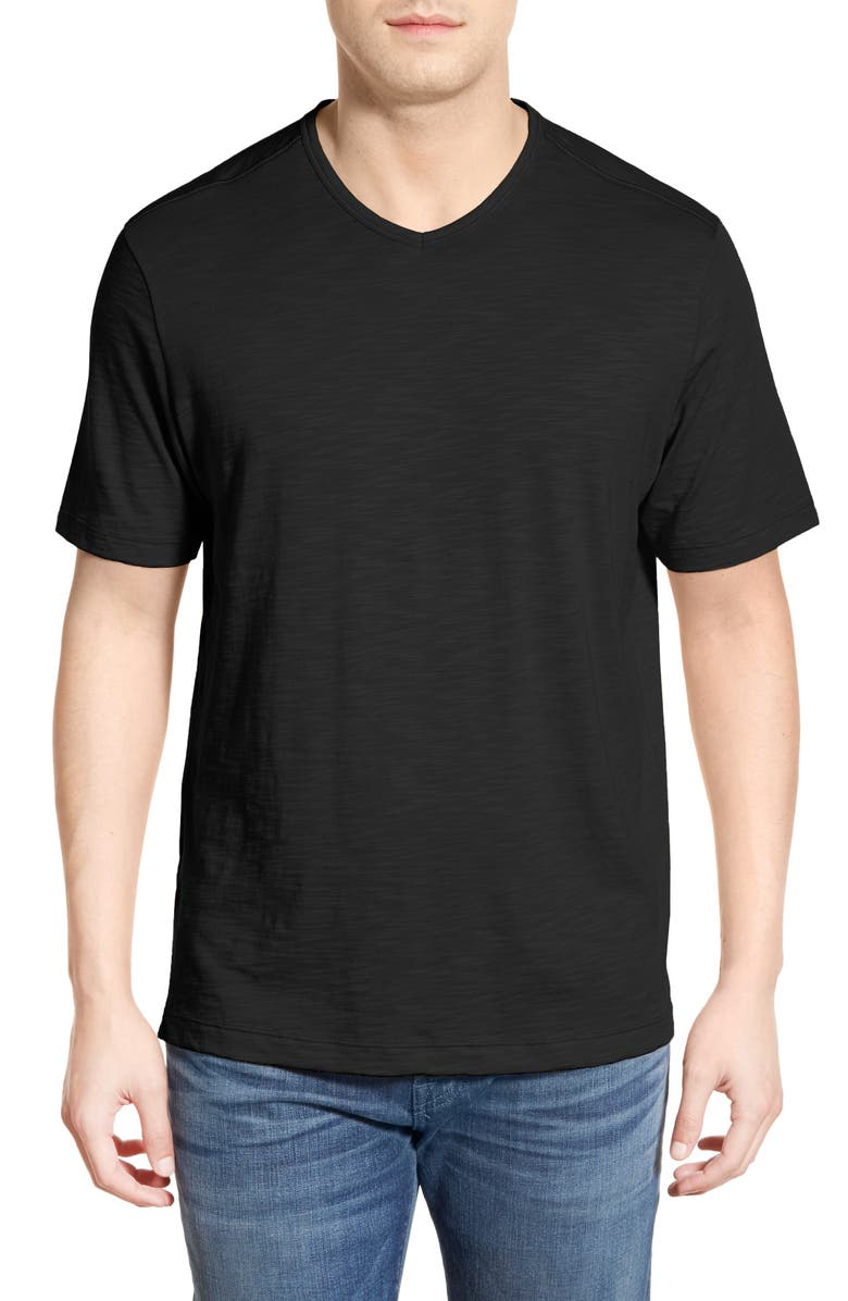 TOMMY BAHAMA Portside Player V-Neck T-Shirt, Main, color, 001