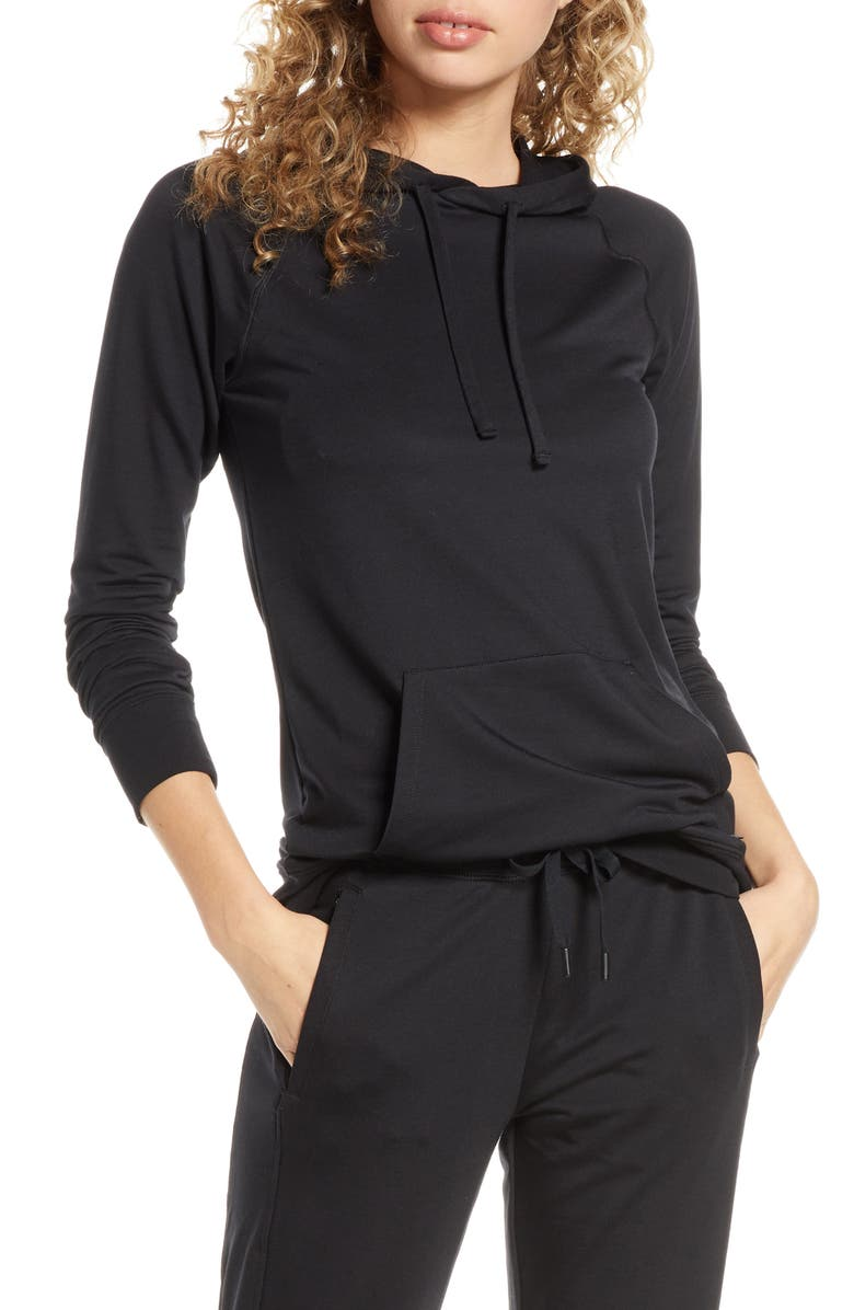 TOMMY JOHN Go Anywhere Hoodie, Main, color, 001
