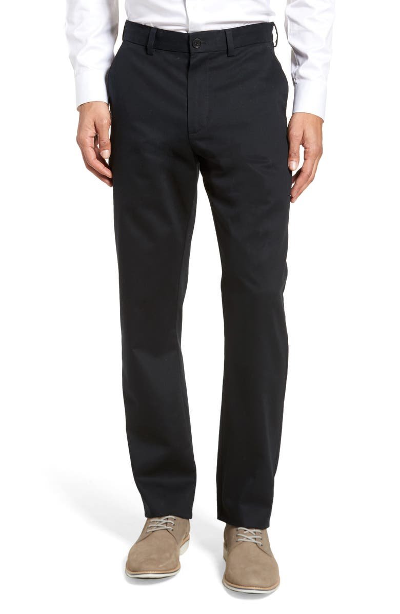 NORDSTROM Men's Shop Wrinkle Free Straight Leg Chinos, Main, color, 001