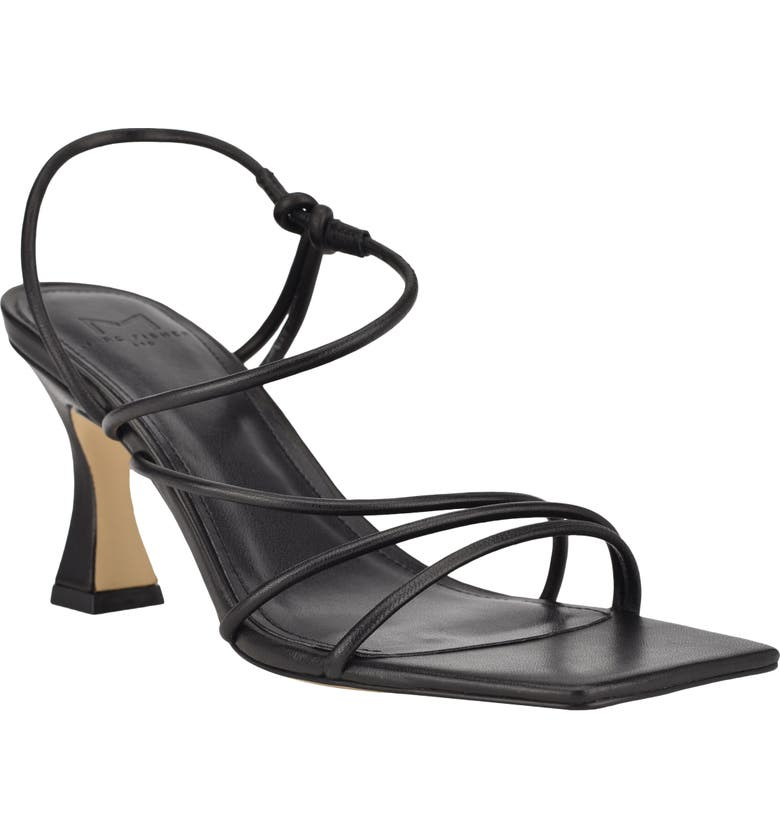 MARC FISHER LTD Dami Strappy Sandal, Main, color, BLACK LEATHER
