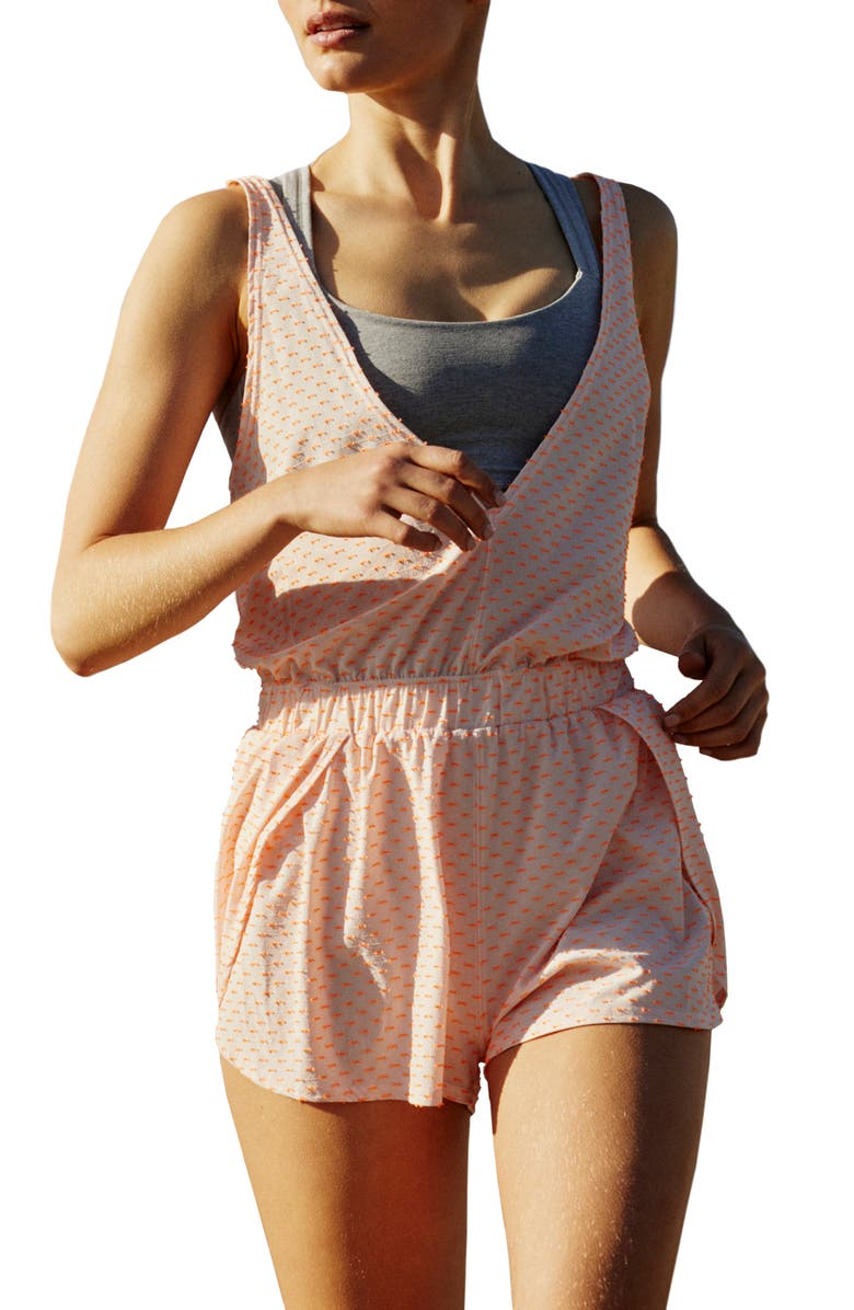FREE PEOPLE FP MOVEMENT Free People Jog It Off Sleeveless Romper, Main, color, 800