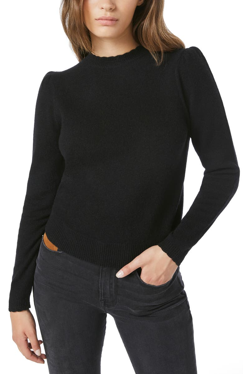 FRAME Madeline Cashmere Blend Sweater, Main, color, NOIR