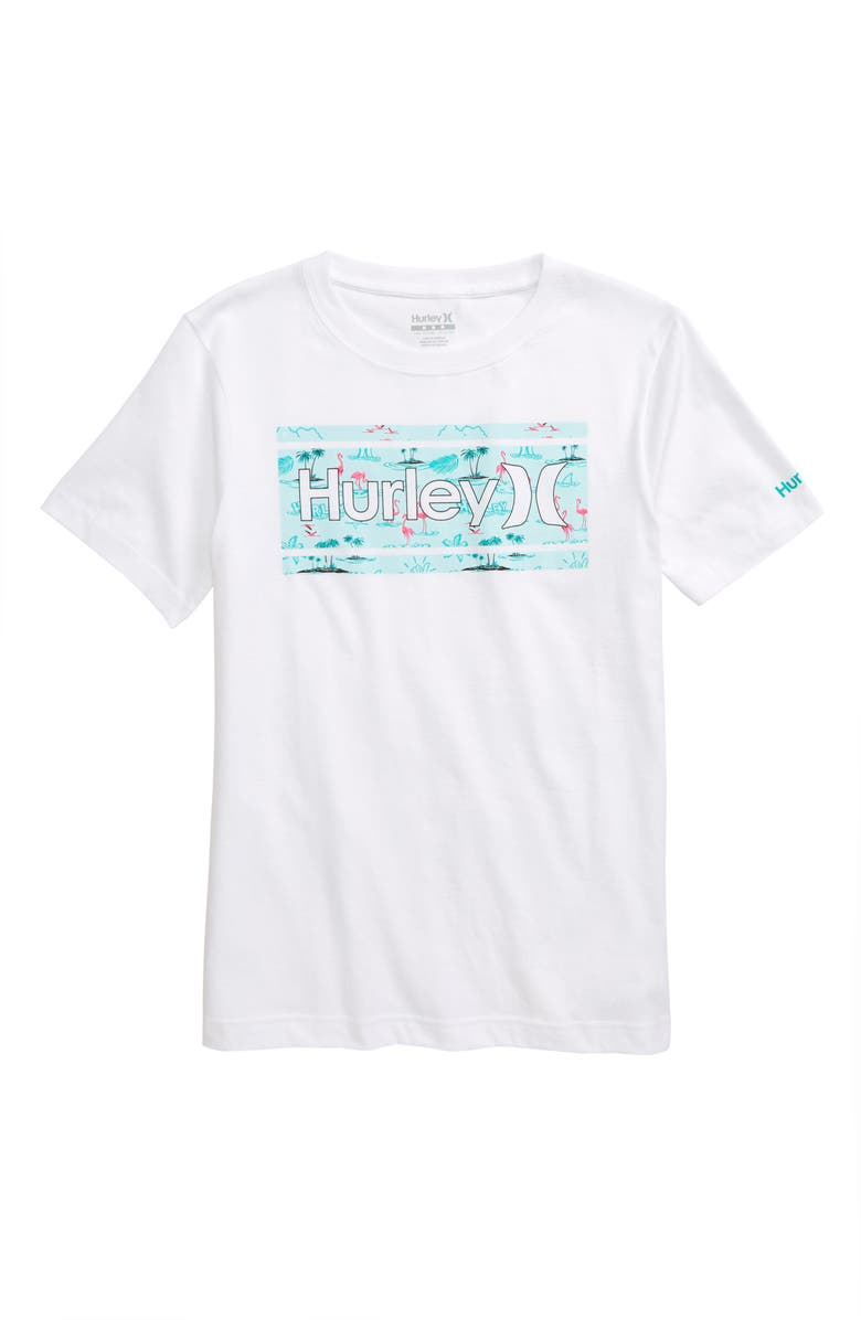 HURLEY Print Fill Graphic T-Shirt, Main, color, 100