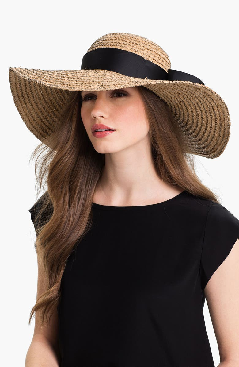 JONATHAN ADLER Floppy Straw Sun Hat, Main, color, 001