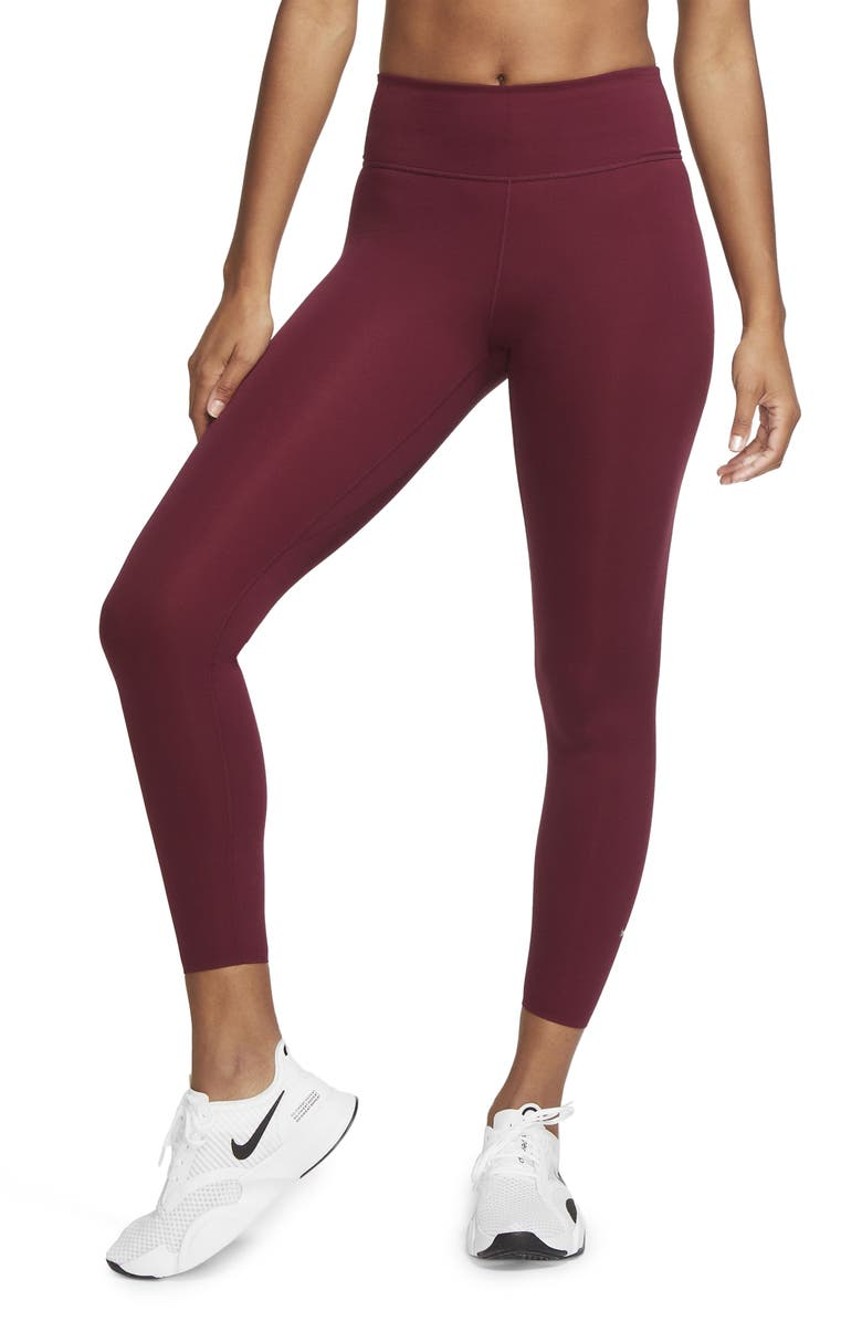 NIKE One Lux 7/8 Tights, Main, color, DARK BEETROOT/ CLEAR