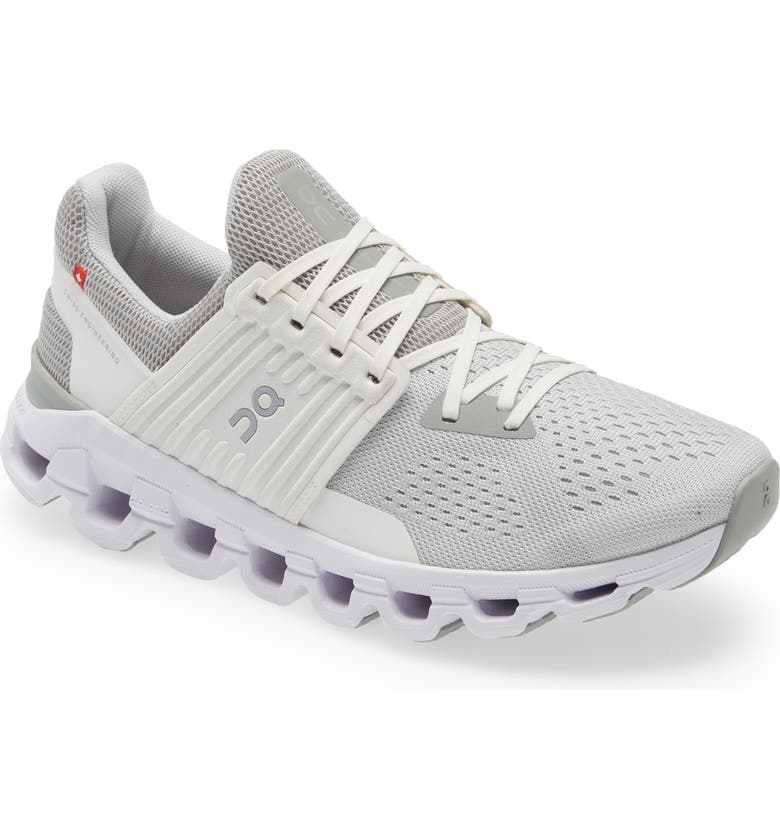 ON Cloudswift Running Shoe, Main, color, GLACIER/ WHITE/ WHITE