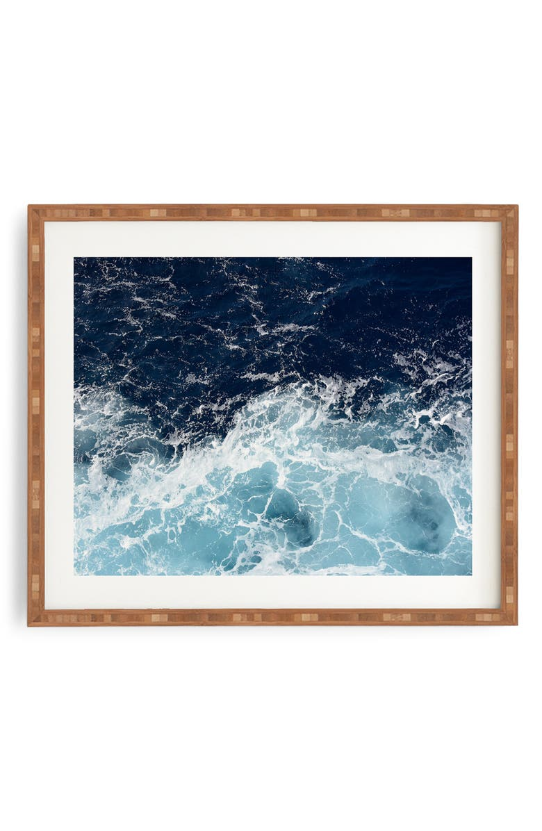 DENY DESIGNS Sea Swish Framed Wall Art, Main, color, 400