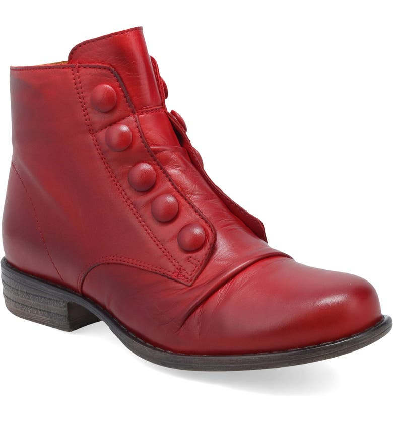 MIZ MOOZ Louise Slightly Slouchy Bootie, Main, color, RED LEATHER