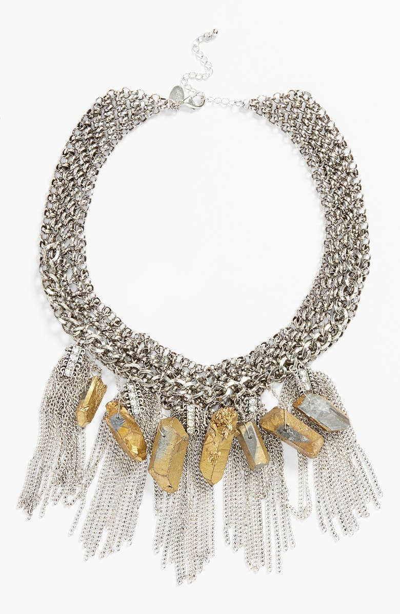BERRY Fringe Statement Necklace, Main, color, 040