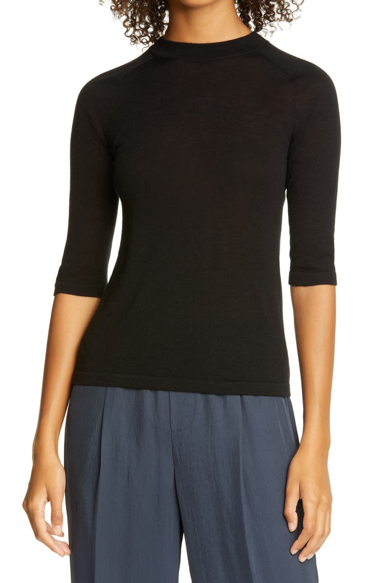 VINCE Wool Blend Sweater, Main, color, 001