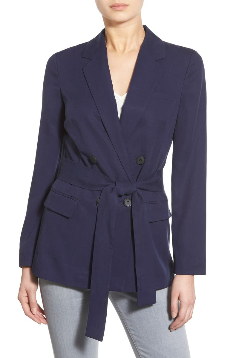 1.STATE Belted Double Breasted Blazer, Main, color, 400