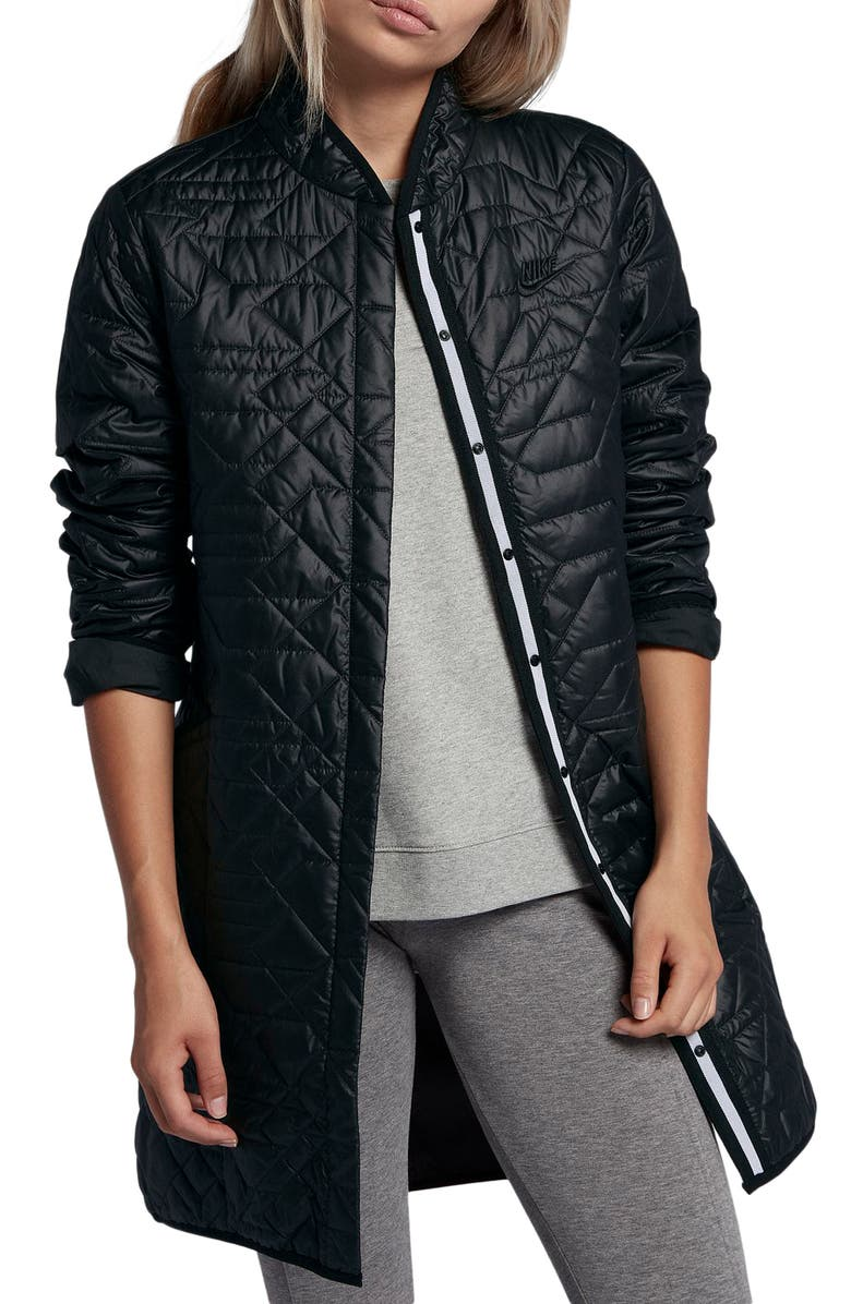 NIKE Sportswear Quilted Women's Parka, Main, color, 010