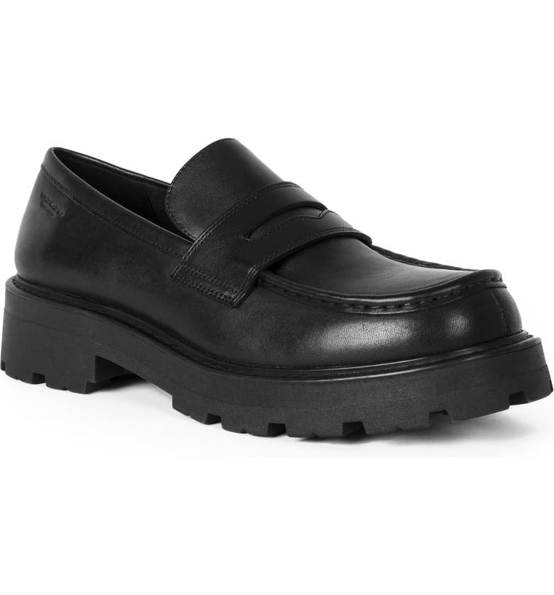VAGABOND SHOEMAKERS Cosmo 2.0 Penny Loafer, Main, color, BLACK LEATHER