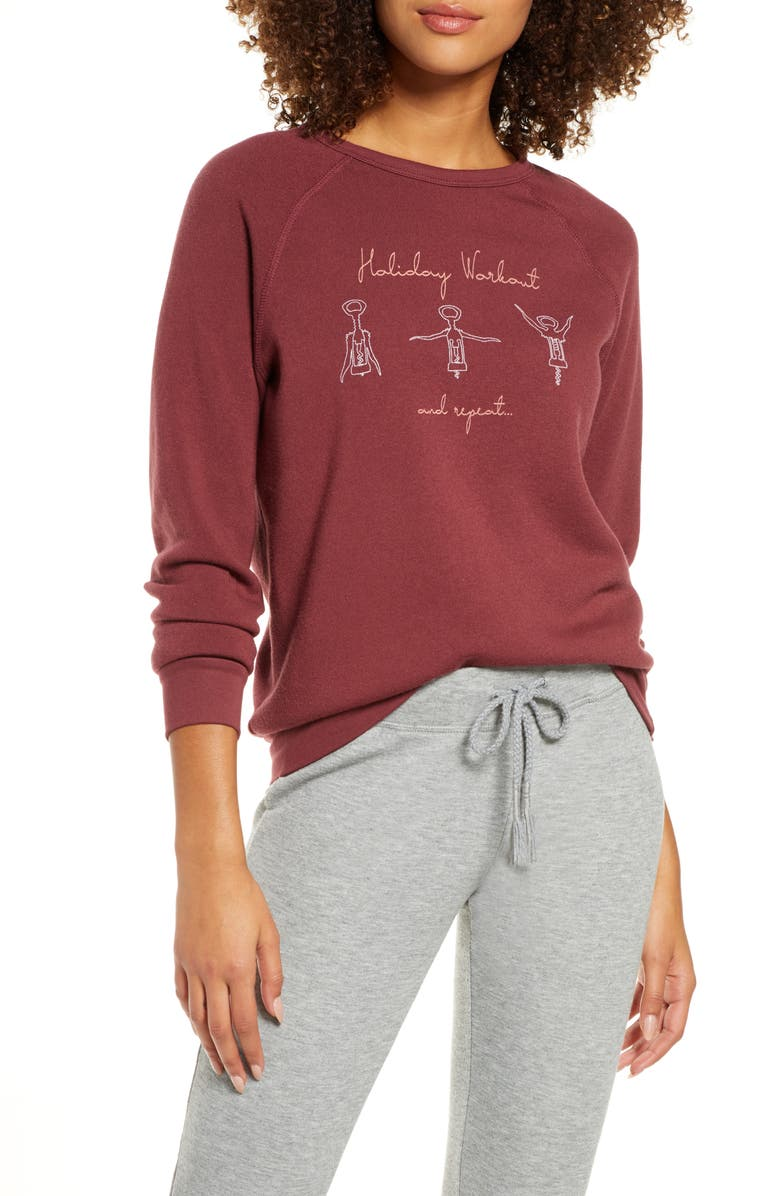 PROJECT SOCIAL T Holiday Workout Lounge Top, Main, color, 600